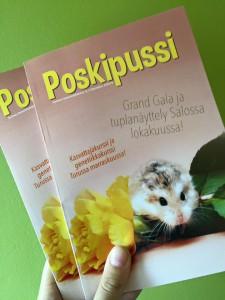 Jäsenet saavat 4 kertaa vuodessa ilmestyvän monipuolisen Poskipussi-lehden!